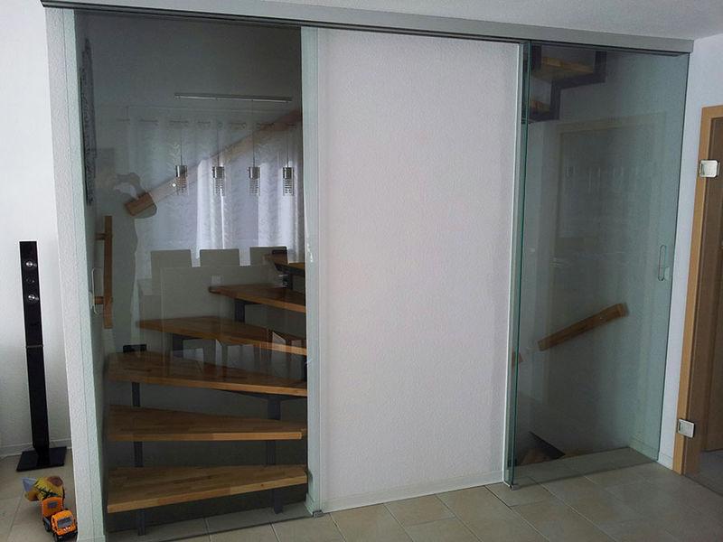 glasabtrennung fuer ein treppenhaus sinsheimer glas